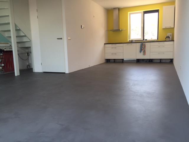Pu betonlook vloer leef beton vloertechniek hoogeveen